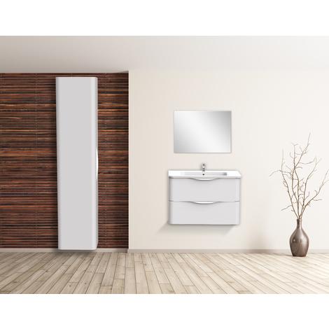 Mueble de bano suspendido JAPHAR 90 BLANCO Dimensiones : 91x46x55 cm - Aqua +