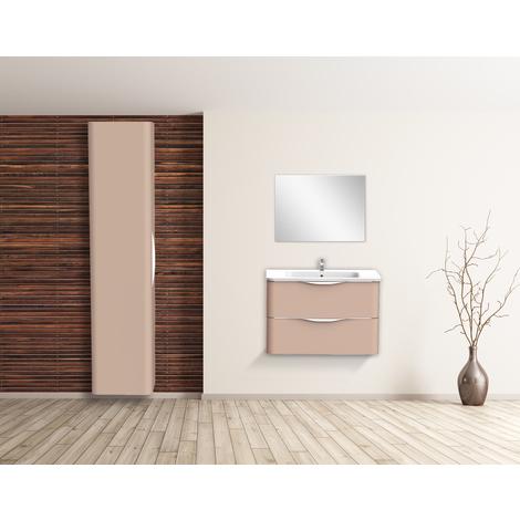 Mueble de bano suspendido JAPHAR 90 Nude Dimensiones : 91x46x55 cm - Aqua +