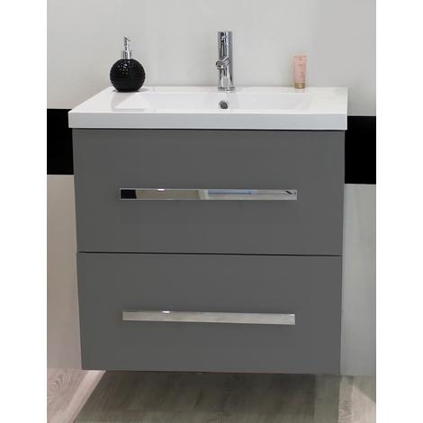 Mueble de bano SUSPENDIDO NUEVO 60 blanco Dimensiones : 61X46x69 cm- Aqua+