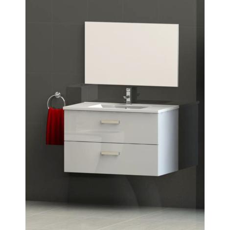 Mueble de bano suspendido SYVA 60 blanco Dimensiones : 61,5X46,5x52 cm- Aqua+