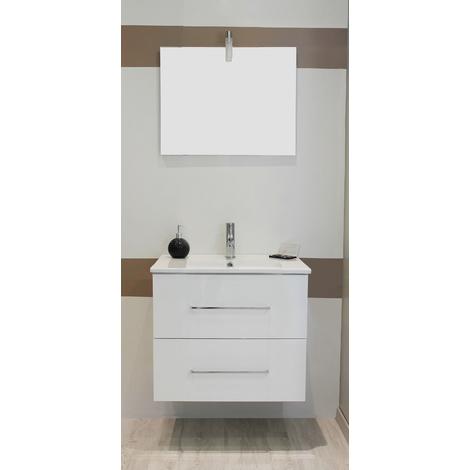Mueble de bano suspendido TANATH 60 BLANCO Dimensiones : 61x46,5x57 cm- Aqua+