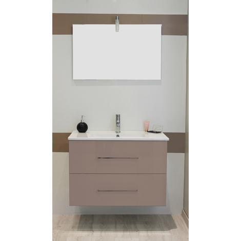 Mueble de bano suspendido TANATH 80 Topo Dimensiones : 81x46,5x57 cm- Aqua+