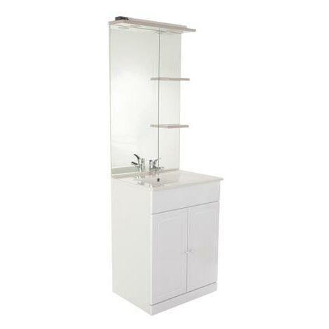 Mueble de bano TOLEDE 80 Topo Dimensiones : 81x46,5x183 cm - Aqua+