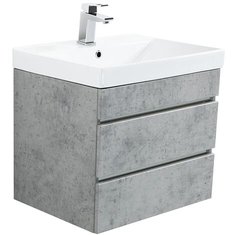 Mueble de baño Via 60 Gris hormigón con cajones sin tiradores