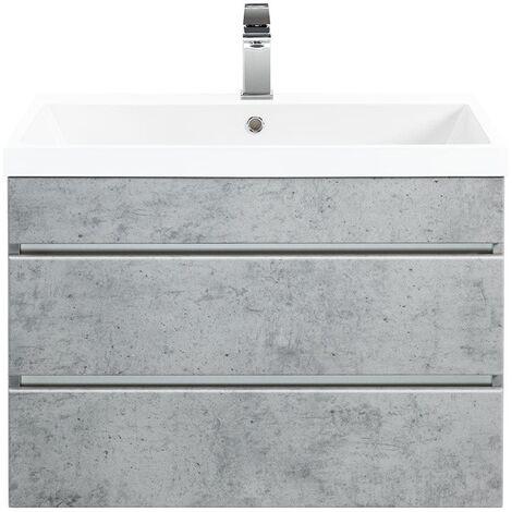 Mueble de baño Via 70 Gris hormigón con cajones sin tiradores
