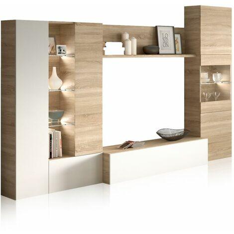 Mueble de comedor Essential - Blanco-Roble