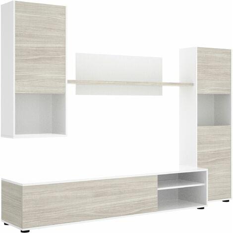 Mueble de comedor Luka Blanco - Gris
