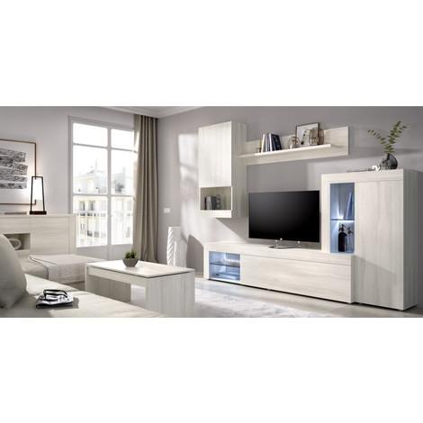 Mueble de Comedor TV Moderno LUZ LEDS, Medidas: 260 cm (ancho) x 180 cm (alto) x 42 cm (fondo)