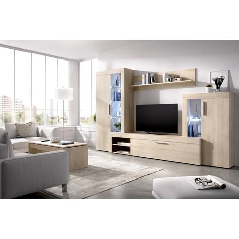 Mueble de Comedor TV Moderno LUZ LEDS, Medidas: 290 cm (ancho) x 187 cm (alto) x 42 cm (fondo)