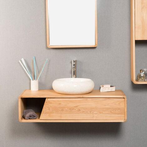 Mueble de cuarto de baño de teca Milo 100 cm