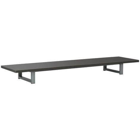 Mueble de cuarto de baño gris 160x40x16,3 cm