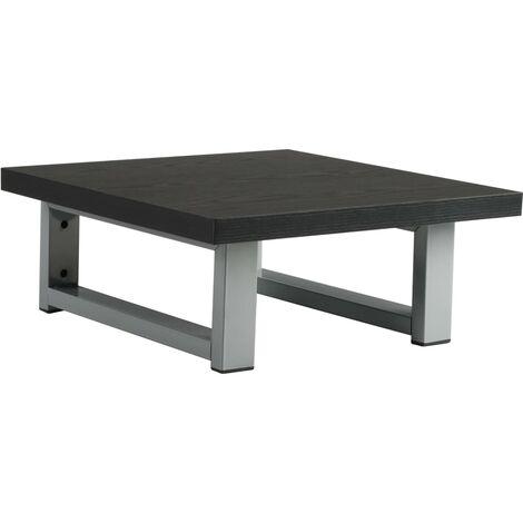 Mueble de cuarto de baño negro 40x40x16,3 cm