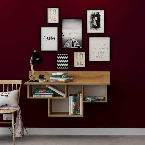 Mueble de Entrada Renzo - con estante - para pared - Roble en Madera, 120 x 37 x 64 cm
