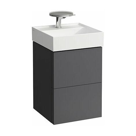 Mueble de Kartell, apto para lavabo 815331, 2 cajones, 440x600x450, color: gris pizarra - H4075080336421