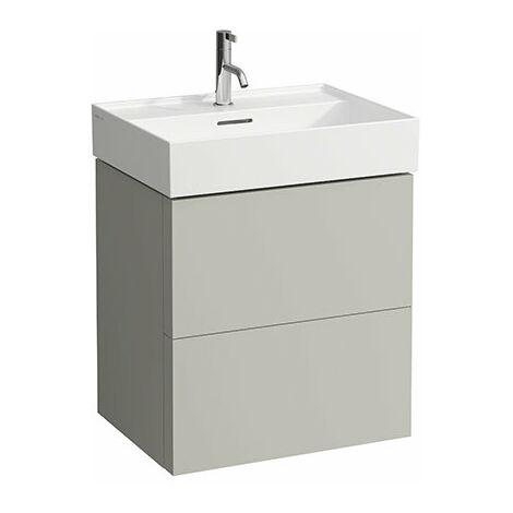 Mueble de Kartell, apto para lavabos 810333, 810338, 810339, 813332, 2 cajones, 580x600x450, color: gris guijarro - H4075690336411