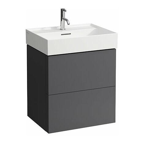 Mueble de Kartell, apto para lavabos 810333, 810338, 810339, 813332, 2 cajones, 580x600x450, color: gris pizarra - H4075690336421