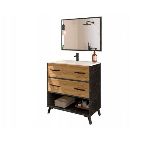 Mueble de lavabo Hudson 90 x 81 x 47 cm