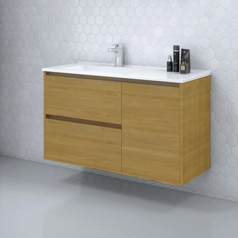 Mueble de Lavabo suspendido TAGUS - 100 cm de ancho