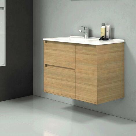 Mueble de Lavabo suspendido TAGUS - 80 cm de ancho