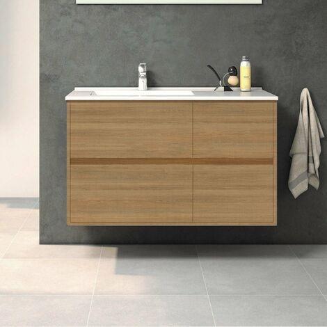 Mueble de Lavabo suspendido TUELA - 100 cm de ancho