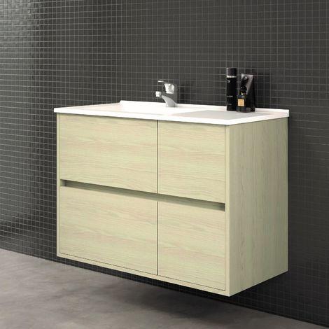 Mueble de Lavabo suspendido TUELA - 80 cm de ancho