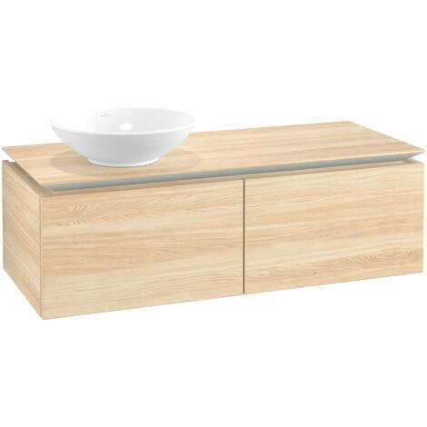 Mueble de lavabo Villeroy & Boch Legato B110, 1200x380x500mm, lavabo lado izquierdo, color: Elm Impresso - B11000PN