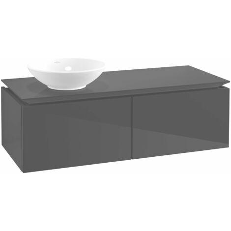 Mueble de lavabo Villeroy & Boch Legato B110, 1200x380x500mm, lavabo lado izquierdo, color: Gris brillante - B11000FP