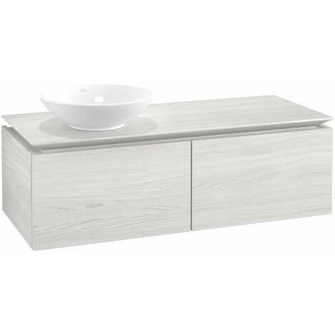 Mueble de lavabo Villeroy & Boch Legato B110, 1200x380x500mm, lavabo lado izquierdo, color: madera blanca - B11000E8