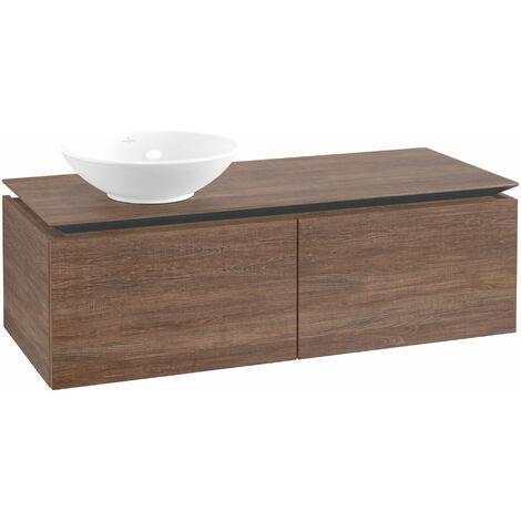 Mueble de lavabo Villeroy & Boch Legato B110, 1200x380x500mm, lavabo lado izquierdo, color: Roble Santana - B11000E1
