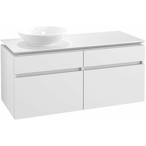 Mueble de lavabo Villeroy & Boch Legato B130, 1200x550x500mm, lavabo lado izquierdo, color: Blanco Mate - B13000MS