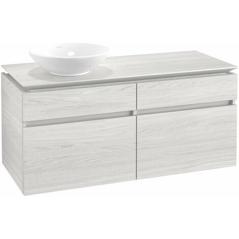 Mueble de lavabo Villeroy & Boch Legato B130, 1200x550x500mm, lavabo lado izquierdo, color: madera blanca - B13000E8
