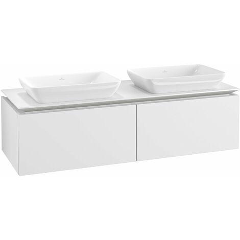 Mueble de lavabo Villeroy & Boch Legato B23400, 1400x380x500mm, 2 lavabos, color: Blanco Mate - B23400MS
