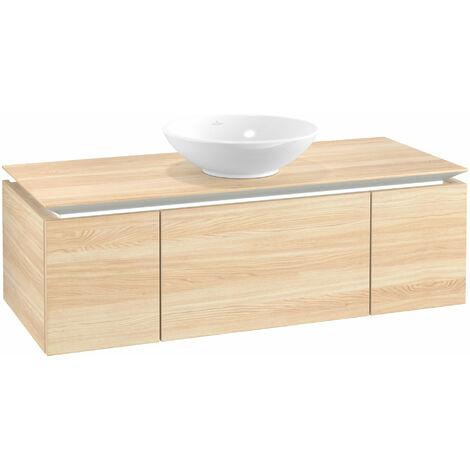 Mueble de lavabo Villeroy & Boch Legato B243, 1200x380x500mm, lavabo céntrico, iluminación LED, color: Elm Impresso - B243L0PN
