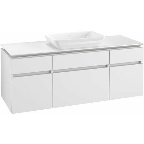 Mueble de lavabo Villeroy & Boch Legato B25800, 1400x550x500mm, lavabo céntrico, color: Blanco Mate - B25800MS