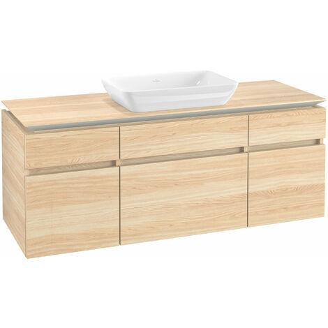 Mueble de lavabo Villeroy & Boch Legato B25800, 1400x550x500mm, lavabo céntrico, color: Elm Impresso - B25800PN