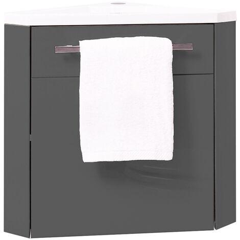 """main image of """"Mueble de lavamanos Angular NINO Gris 40 CM Dimensiones : 40x40x53 cm"""""""