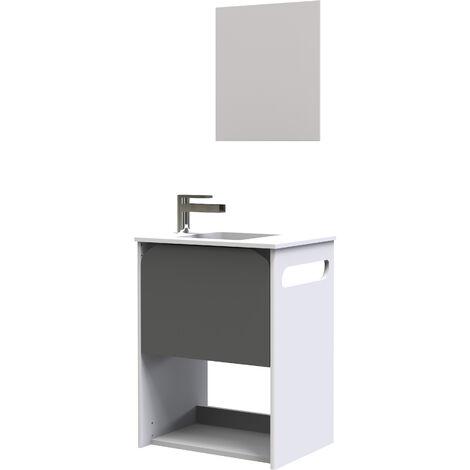 Mueble de lavamanos suspendido LORY Dimensiones : 67x 52 x 39 cm