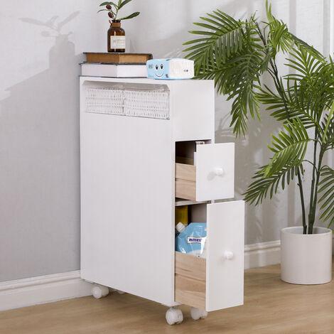 Mueble de nicho carro de cocina con cajones carro cajón contenedor estante de cocina 70x71x20cm blanco
