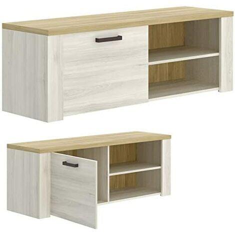 Mueble de salón Comedor, módulo TV + Estante + Aparador , acabado Milan