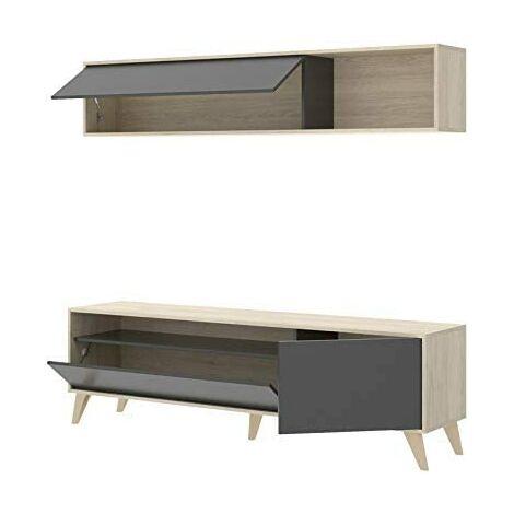 Mueble de salón comedor Nordik, medidas: Alto:180cm - Ancho:180cm - Fondo:41cm