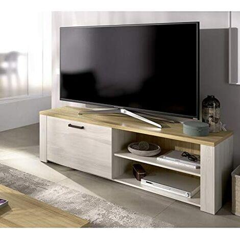 Mueble de Salon TV Acabado Milan, Medidas: 49 x 130 x40 cm de Profundidad