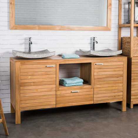 Mueble de teca para lavabo COURCHEVEL 160