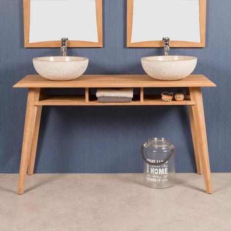 Mueble de teca para lavabo TANGO 140 CM