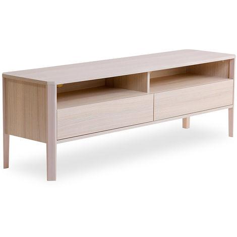 Mueble de televisión blanco - Marny Madera natural
