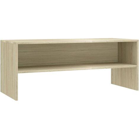 Mueble de TV aglomerado color roble Sonoma 100x40x40 cm