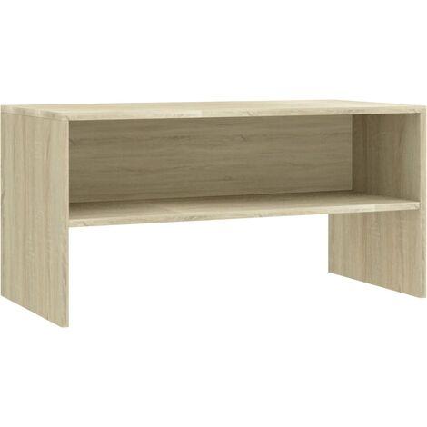 Mueble de TV aglomerado color roble Sonoma 80x40x40 cm