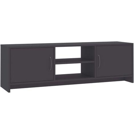 Mueble de TV aglomerado gris 120x30x37,5 cm