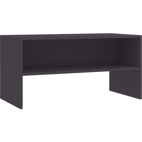 Mueble de TV aglomerado gris 80x40x40 cm