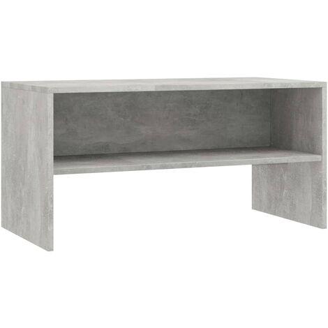 Mueble de TV aglomerado gris cemento 80x40x40 cm