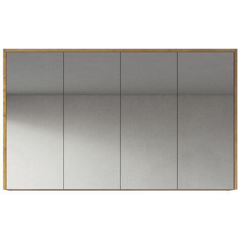 Mueble espejo Cuba 120cm roble - Mueble espejo Espejo baño Mueble baño Mueble de pared